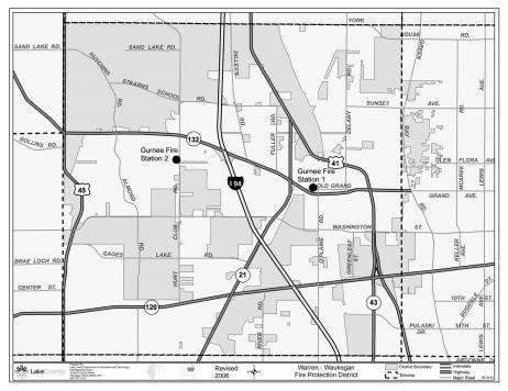 Warren-Waukegan Fire Protection District Map